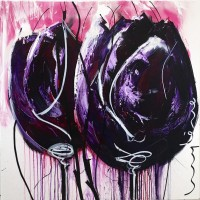 Purple Tulips with a twist